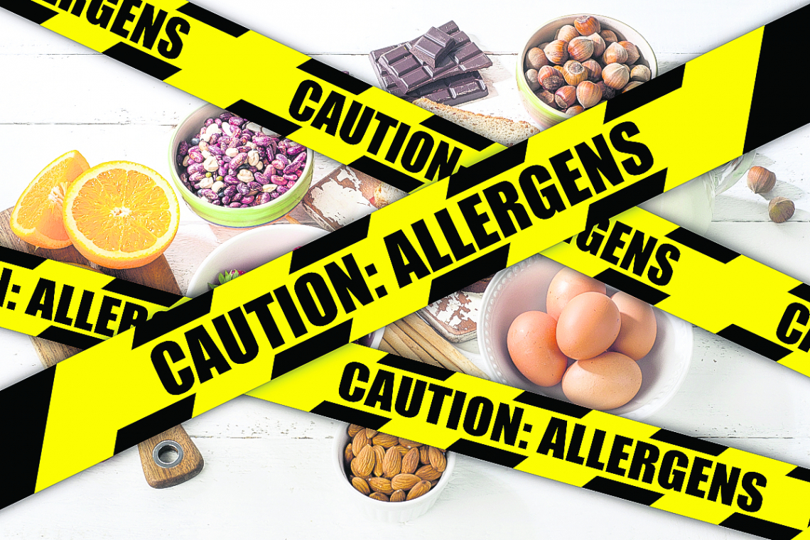 Care required! Growing problems with food allergies